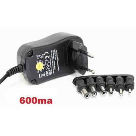 Cargador universal adaptador con selector rotativo 600MA de AC220V a DC 3 A 12V