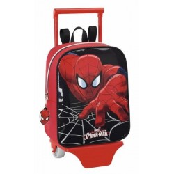 Mochila guardería Spiderman 22cm con carro