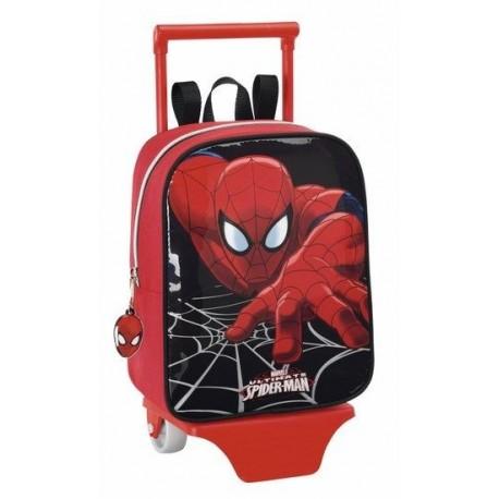 Mochila guardería Spiderman 22cm con carro