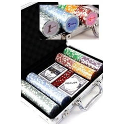 SET MALETIN POKER 200 FICHAS EURO (11,5 Grs.)