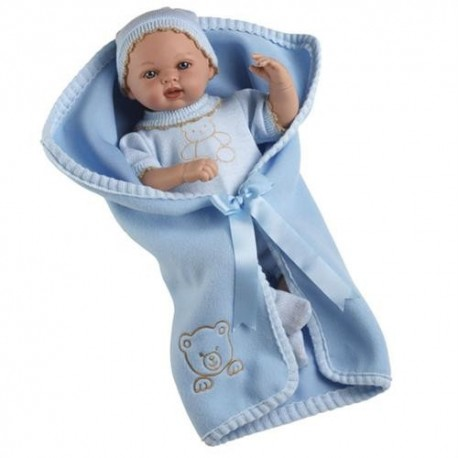 Muñeco Elegance bebé azul 50cm llora Arias