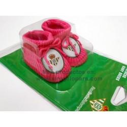 Patucos para bebé del Real Betis rosa niña
