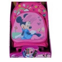 Mochila trolley Minnie Mouse 26cm más set papelería