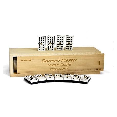Dominó Profesional Master 9 doble caja de madera LOFFER