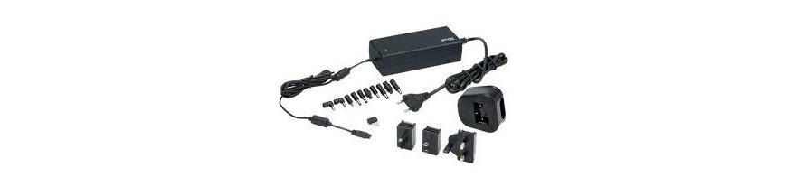 Adaptadores de corriente, transformadores de corriente.